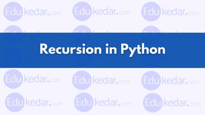 recursive function in python