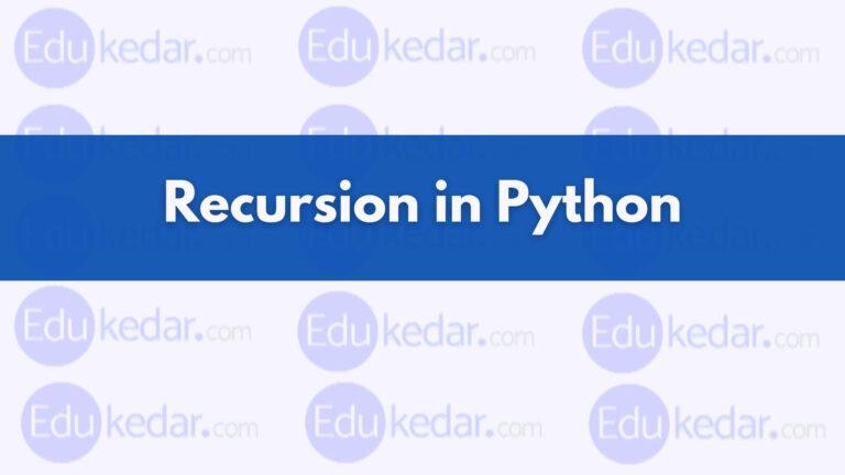 Recursion Function in Python
