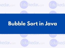 Bubble Sort In JAVA
