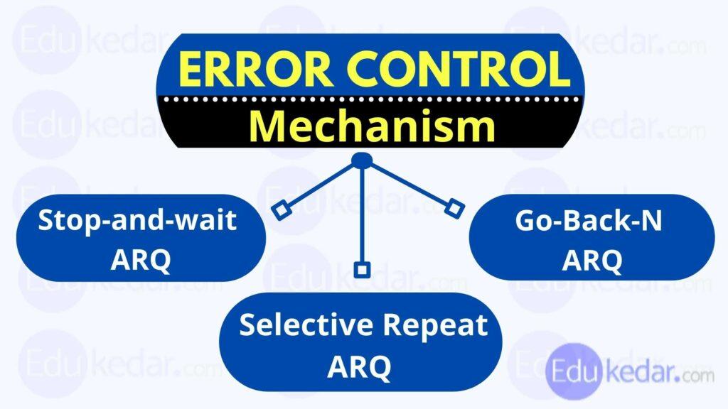 error control in data link layer
