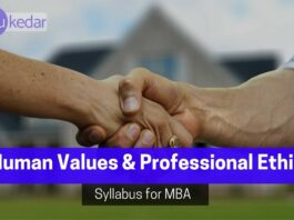 Human Values and Professional Ethics syllabus